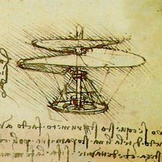 Da Vinci's sketch of a modern day Helicopter - Airport Names Honouring the Famous