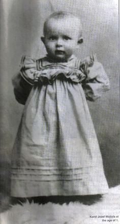 Pope John Paul II (Karol Wojtyla) at around one year old.