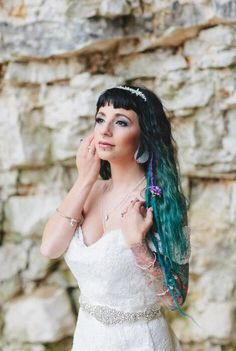 UK's Top 50 Wedding Make-Up Artists 2019 - Alternative Brides Skin Palette, Natural Wedding Hairstyles, Alternative Bride, Team Bride, Bridal Show, Bridal Hair And Makeup, Bride Look, Wedding Make Up, Blue Hair