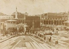 Masjid al-Haram in the Originally found on: saharfakhri Masjid Al Haram, History Of Islam, Mekkah, Beautiful Mosques, Sacred Architecture, Saints, Rare Pictures, Beautiful Pictures, Place Of Worship