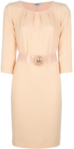 MOSCHINO Belted Shift Dress - Lyst