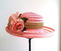 Kentucky Derby hat Easter hat with flowers by IfTheHatFitsByJackie, $38.00