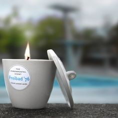 Scented candle 'Freibad '76' byThe Fundamental Shop.  http://t-h-i-n-g-s.blogspot.com