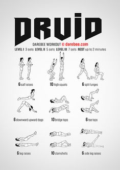 Druid is a full body Darebee workout that will help your body become more powerful. Boxing Training Workout, Gym Workout Tips, Running Workouts, Workout Challenge, At Home Workouts, Upward Dog, Quad Exercises, Full Body Workout Routine, Darebee