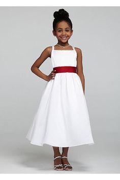 All-over Satin Tea-Length Ball Gown AI17010796