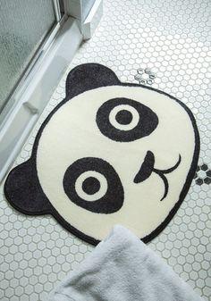 We don't want to cause a 'panda-monium', but this bath mat is pretty cute!