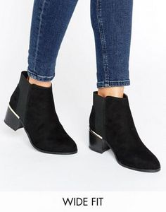 New Look Wide Fit Davey Comfort Suedette Ankle Boot