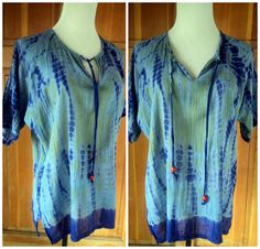 Vintage 70s Tie Dye Blouse Hippie Top by caligodessvintage on Etsy