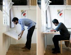 Wall folding desk for small place