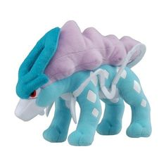 """Pokemon Diamond & Pearl Plush Stuffed Toy - 10"""" Suicune:Amazon:Toys &... ($45) ❤ liked on Polyvore featuring plushies, stuffed animals, home, stuff animals and filler"""