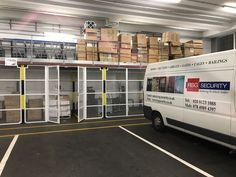 Our Security Enclosures creating a security area within warehouse; fitted recently in Central London. Cage, Warehouse, The Unit, Storage, London, Purse Storage, Larger, Magazine, Barn