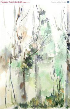 VACANZA vendita astratto foresta paesaggio di CanotStopPrints