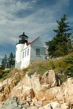 Bass Harbor Head Light, iconic lighthouse in Acadia National Park, Maine.