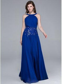 Evening Dresses - $166.99 - A-Line/Princess Scoop Neck Floor-Length Chiffon Evening Dress With Beading  http://www.dressfirst.com/A-Line-Princess-Scoop-Neck-Floor-Length-Chiffon-Evening-Dress-With-Beading-018025464-g25464