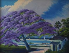 "Meet the Highwaymen, Florida's African-American landscape artists who overcame the obstacles of the ""Jim Crow"" South, solidifying a chapter of artistic and cultural history Jim Crow, Men Art, Vintage Art, Folk Art, Architects, Tropical Landscaping, Paisajes, Tree Structure, Retro Art"