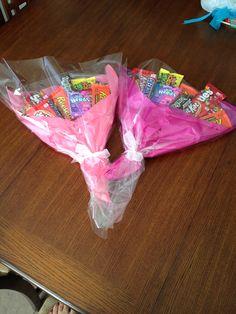 Candy bouquets for girls dance recital