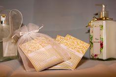 Sachets perfumados personalizados na sacolinha de tule