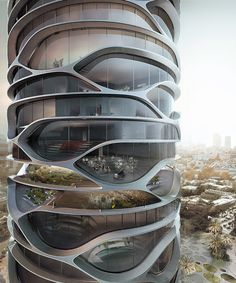 david tajchman conceives topological gran mediterraneo tower for tel aviv