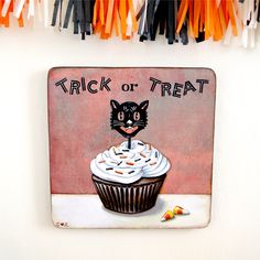 Everyday is a Holiday — Trick or Treat 9 x 9 plaque