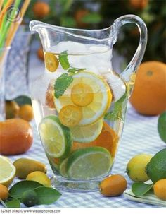 Flavoured water! Great way to keep hydrated & tasty!
