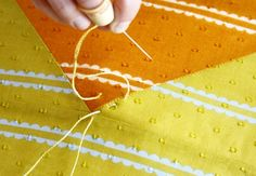 Anna Maria Horner wrote the nicest simplest post about hand quilting and it makes me feel better about myself!