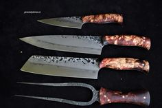 Custon handmade Peremský knife Lucas Black, Kitchen Knives, Carving, Steel, Handmade, Knives, Cooking, Hand Made, Wood Carvings