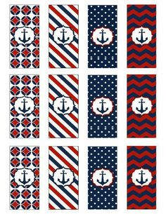 Nautica Sailor Birthday, Sailor Party, Sailor Theme, Baby Birthday, Navy Sailor, Nautical Party, Candy Wrappers, Baby Boy Shower, Planer