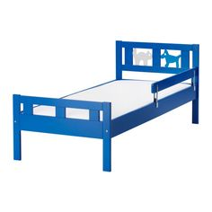 KRITTER Juniorbettgestell mit Lattenrost - blau  - IKEA