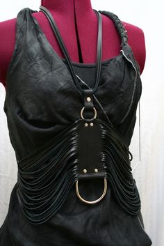 Clara Leather Necklace Harness Belt High Fashion by AudraJean