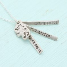 Chocolate and Steel Shakespeare Quote necklace