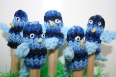 Five Little Blue Birds Finger Puppets by kirstywright on Etsy, $15.00