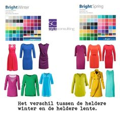 """Het verschil tussen de heldere winter en de heldere lente/ Differences between bright winter and bright spring."" By Margriet Roorda-Faber."