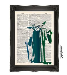 There Is No Try Yoda Star Wars Stencil Original by AvantPrint, $8.00 - Aaron