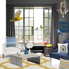 """Add some """"color"""" using gray as a background #homeforachange #homedecor #roomswithcolor #interiors"""
