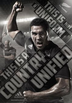 Adidas This is Not a Jersey campaign associated with the New Zealand All Blacks rugby union team in Rugby Poster, All Black Adidas, Rugby Union Teams, All Blacks Rugby, Online Campaign, Sports Marketing, Sport Inspiration, Sports Graphics, Sports Images