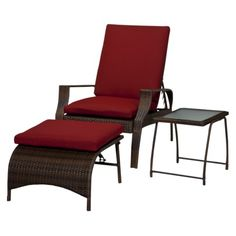 Threshold™ Rolston 3-piece Wicker Chaise Lounge Set