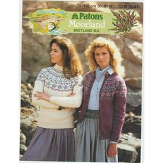 91057b6ed4d7ad Knitting Pattern - Patons 7267- Lady s Fair Isle Style Sweater   Cardigan 30 -40