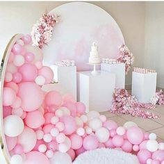 cotton candy pink dessert table
