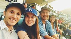 THINK BLUE: Family and friends date night at Dodger Stadium for the the Freeway Series. Had a great time with these goofballs. by mrsamuelgnovak