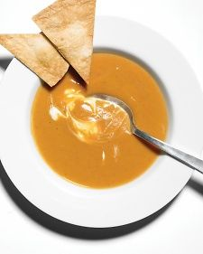 Sweet Potato Chipotle Soup from Martha Stewart. This soup is smooth and creamy with a dash of spice.