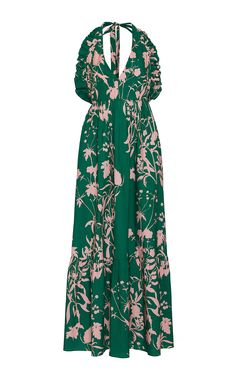 Lola Floral-print Crepe De Chine Midi Dress - Navy Borgo De Nor 1BE7KDiZ