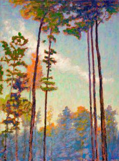 Tall Pines - Rick Stevens #tree #art