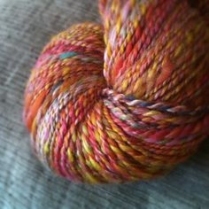 Handspun yarn - wonderful colors