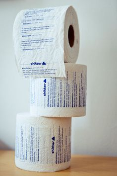 Tweets on your toilet paper!