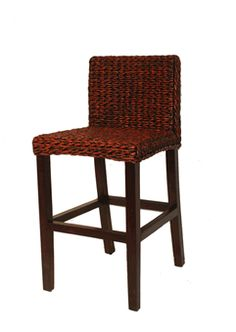 Seagrass Counter Stool - Barbados Our pair of Barbados seagrass counter stool measures: 18 Inches Wide, 20 Inches Deep, 35 High. The Barbados counter stool is a tasteful blend of woven . Indoor Wicker Furniture, Outdoor Wicker Chairs, Green Furniture, Barbados, West Indies Style, Earth Design, Counter Stools, Counter Top, Reddish Brown