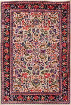 "Buy Sarough Persian Rug 4' 8"" x 7' 1"", Authentic Sarough Handmade Rug"