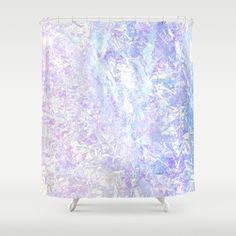 Iridescent Crystal Shower Curtain
