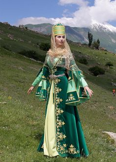 Karachay women traditional dress.