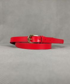 Ζώνη Κόκκινη με Χρυσή Τόκα | Vaya Fashion Boutique