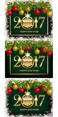 Happy new year 2017 greeting card. Calendar Templates. $7.00